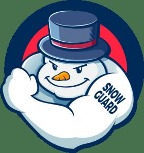 snow man logo for snow guard