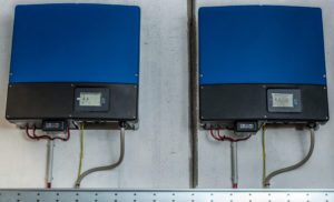 pair of solar inverter repair jobs with wires